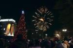 Город встретил Новый год